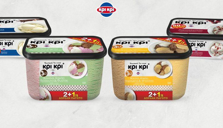 Κρι Κρι: στη 2η θέση της αγοράς παγωτού στην Ελλάδα